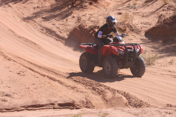 Riding ATVs in Moab
