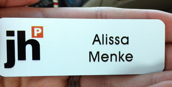 My jhP nametag.